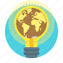 bulb, business, campaigns, creative, earth, global, idea
