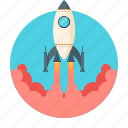 business, fly, global, launch, mission, rocket, startup icon