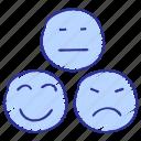 emojis, emoticon, feedback, happy, impressions, sad, smiley
