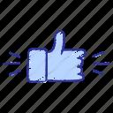 appreciation, great, appreciation sign, done, thumb, like, good icon