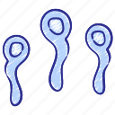 cells, father, fertility, maternity, ovum, reproduction, sperm icon