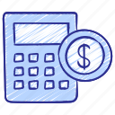 budget, calculator, debt, finance, loan, money, tax icon