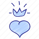 crown, customer, heart, love, loyal, loyalty, romance