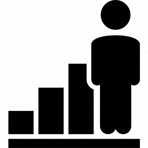 business, chart, earnings, growth, in the black, market, person icon