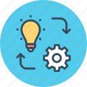 achievement, development, execute, fulfillment, hierarchy, implementation, workflow icon