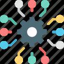 business, intelligence, customer, marketing, data, management, solutions icon