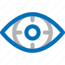 camera, eye, goal, scan, security, vision, watch icon