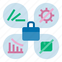 bankrupt, risk, business failure, business impact, business issue, business risk icon