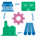 manufacture, producing, management, critical business process, business process icon