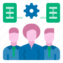 cooperation, development, organization, team, workers, plan development team icon