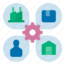 manufacturering, supplier, producing, manufacture, manufacturer, supply chain, supplier management icon