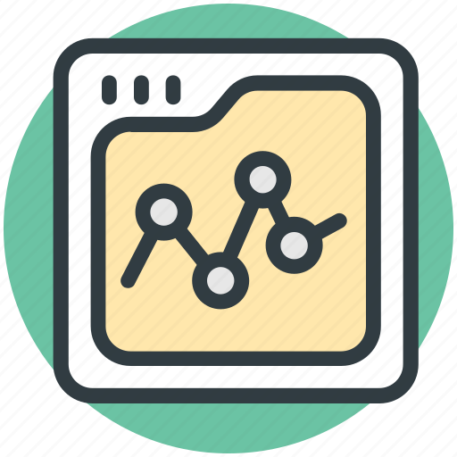 analysis, diagram screen, graph, graph screen, monitoring icon