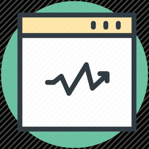 analysis, diagram screen, graph, graph screen, monitoring icon