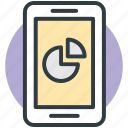 business, cell phone, mobile, mobile graph, stats icon