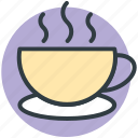drink, hot coffee, hot drink, hot tea, tea mug icon
