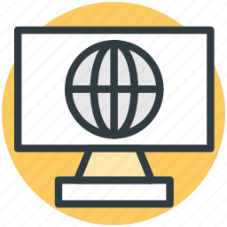 internet grid, online globe, planet, world map, worldwide icon