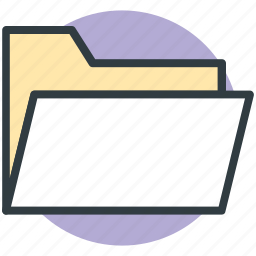 data folder, document, file, folder, paper folder icon