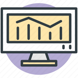 bar chart, bar graph, bars graphic, financial chart, statistics screen icon