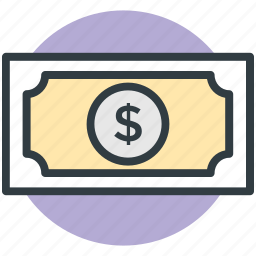 banknote, cash, currency note, finance, paper money icon