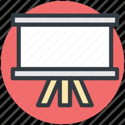 blackboard, chalk board, easel, presentation, white board, writing board icon