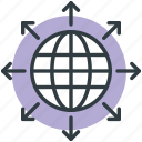 communication, global, globe, globe communication, map icon