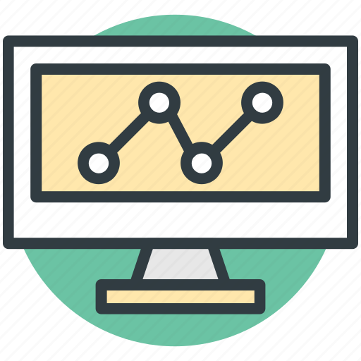 analytics screen, chart screen, graph report, graph screen, online graph icon