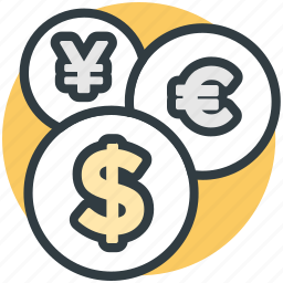 currency conversion, currency exchange, currency value, dollar, money exchange icon