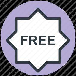 free sign, sale, service, shop sign, sticker icon