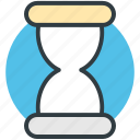 hourglass, sand clock, sand timer, sand watch, sandglass icon