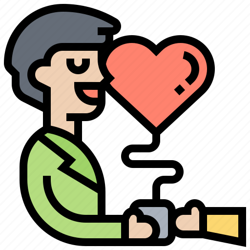 Happy, heart, kind, leniency, man icon - Download on Iconfinder