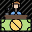 anti, bribery, corruption, training, instructor icon