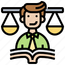 authority, code, ethics, justice, law icon