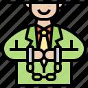 arrested, businessman, corporate, debt, liability icon