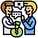 bribery, business, money, benefactor, corruption icon