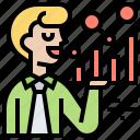 analysis, business, demand, graph, side