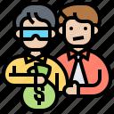 bribery, evidence, money, testimony, fraud icon