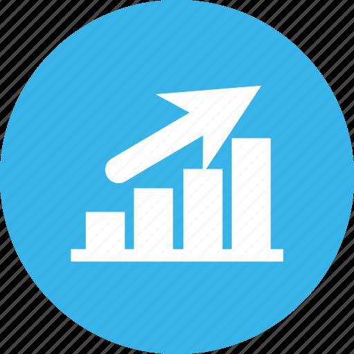 business, development, growth, market icon