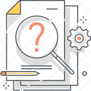 faqs, how, know, problem, question, solution, solving icon