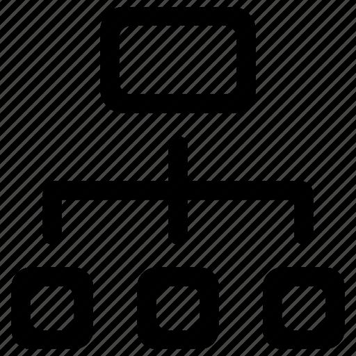 diagram, flowchart, hierarchy icon