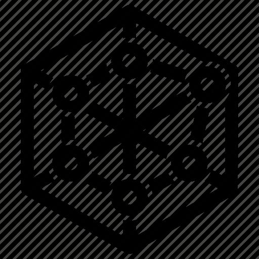 chart, pentagon, report icon