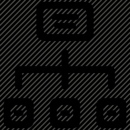 flowchart, hierarchy, management icon