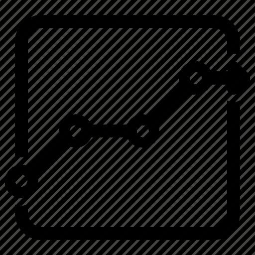 analytics, chart, earnings icon