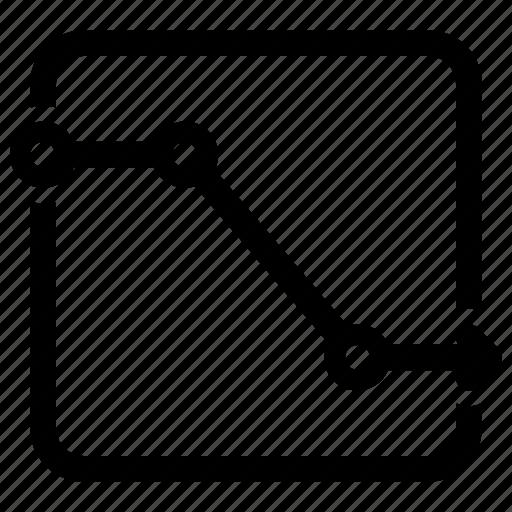 decrease, loss, sales report icon