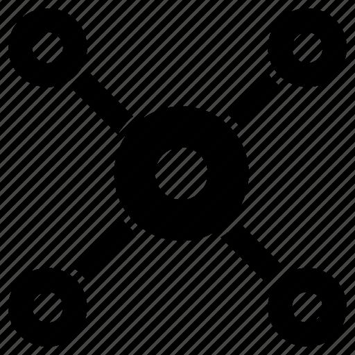 communication, connection, diagram, teamwork icon