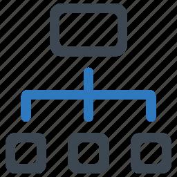 flowchart, hierarchy, workflow icon