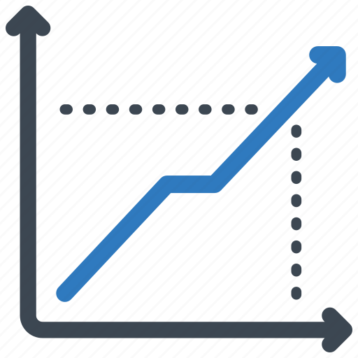 analytics, chart, line icon