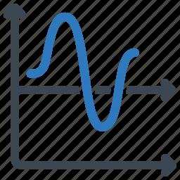 chart, graph, line icon