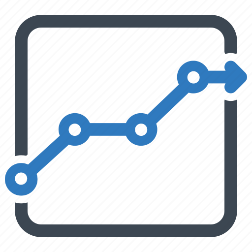 earnings, graph, sales report icon