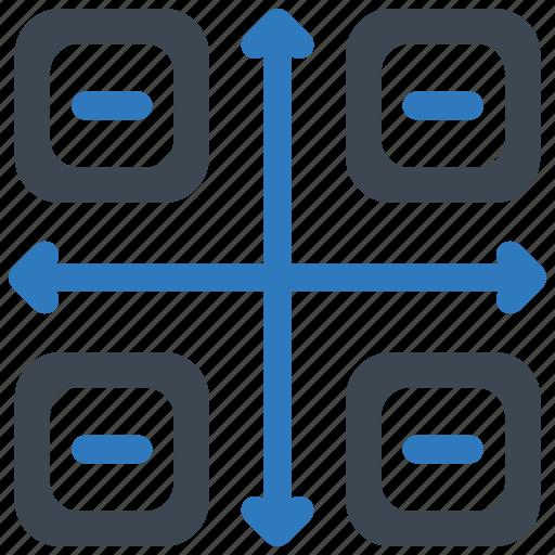 flowchart, planning, workflow icon