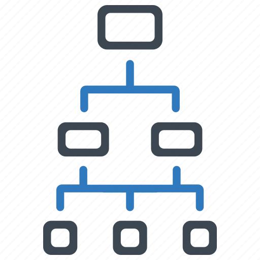diagram, hierarchy, workflow icon